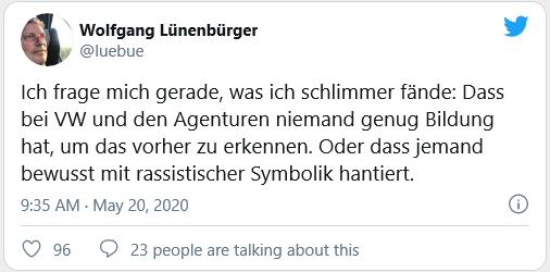 Luenenbuerger Reichenbach Post Twitter VW