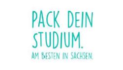 Pack dein Studium Kampagne Sachsen Schriftzug