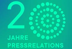 pressrelations 20 Jahre Logo