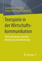 Textspiele in Wirtschaftskom Buchcover
