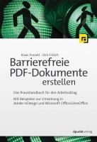 Barrierefreie PDF Doks erstellen Buchcover 2019