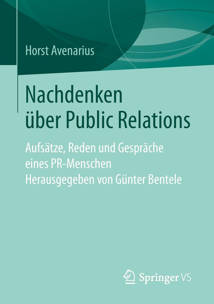Nachdenken ueber PR Avenarius Horst Cover
