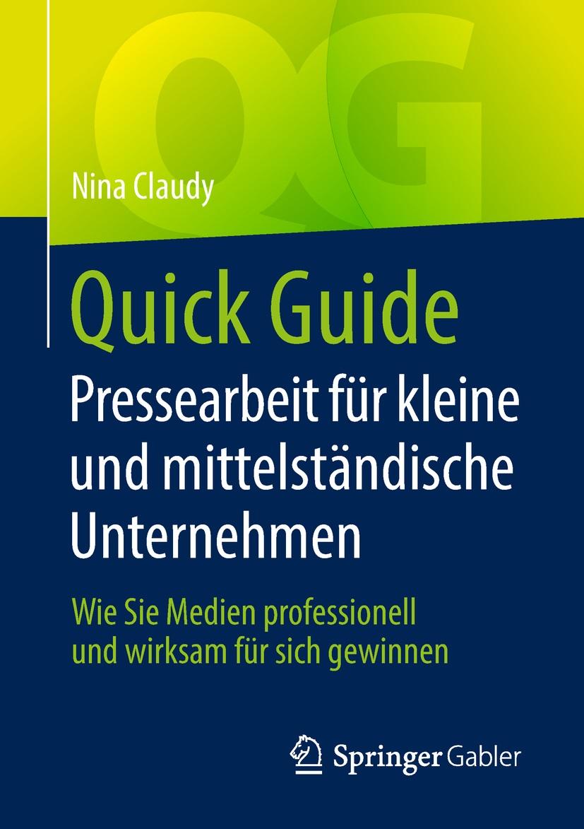 Pressearbeit KMU Nina Claudy Buchcover