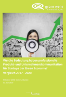 Bedeutung prof Kom fuer Start ups Green Economy Studie 2020 Cover