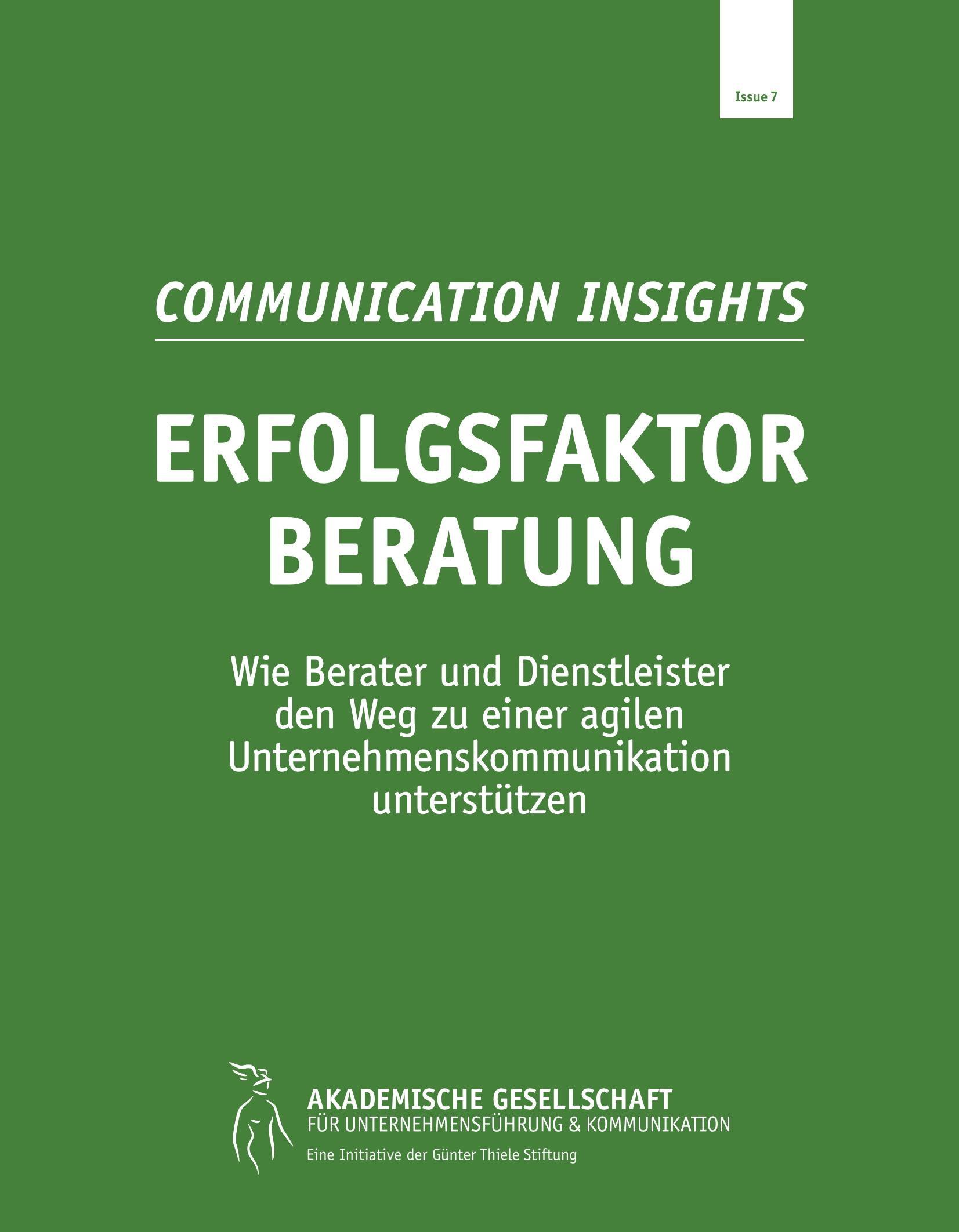 Communication Insights 7 Erfolgsfak Beratung AGUK Cover