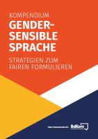 Gendersensible Sprache Kompendium bdKom Cover