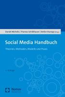 Social Media Handbuch Nomos Cover 4 Auflage