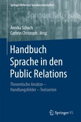 Handbuch Sprache in der PR Schach Annika Cover