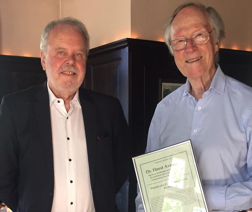 Avenarius Horst Bentele Guenter August 2020 PR Weiser ausgezeichnet