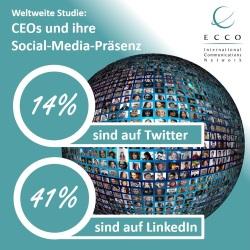 Ecco Studie CEOs auf SoMe