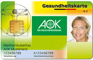 AOK eletkro Versichertenkarte Muster