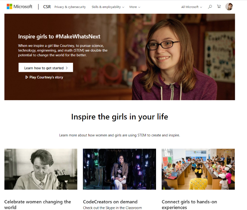 Weltfrauentag Microsoft MakeWhatsNext