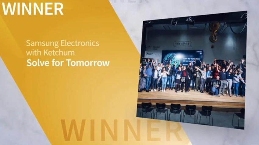 Sabre Award 2021 Ketchum Solve for Tomorrow Samsung