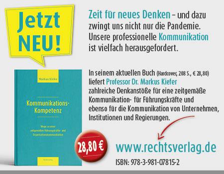 Anzeige Dr Markus Kiefer PR Journall